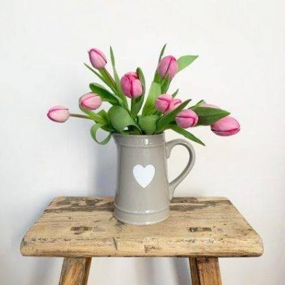 Ceramic Grey Heart Jug