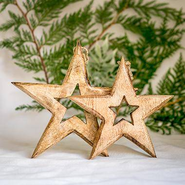 Mango Wood Hanging Stars