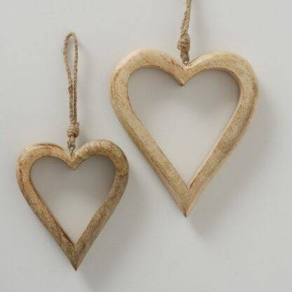 Shabby Chic Hanging Wooden Hearts