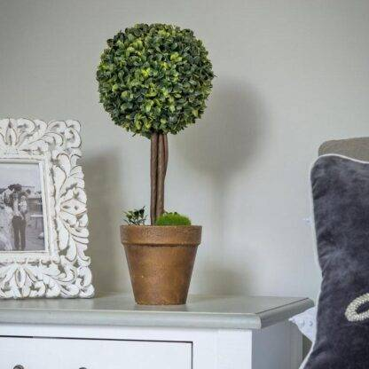 Artificial Potted Topiary Ball Tree 40cm