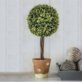 Artificial Potted Topiary Ball Tree