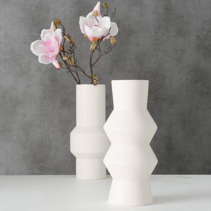 White Ornamental Vase - Two Designs